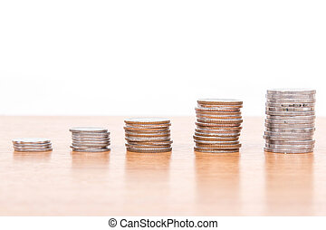 Close up Stack Of Coins