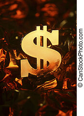 close up stock image of the dollar sign