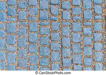 Close up stone pavement texture for use as abstract background