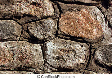 Close-up stone wall texture