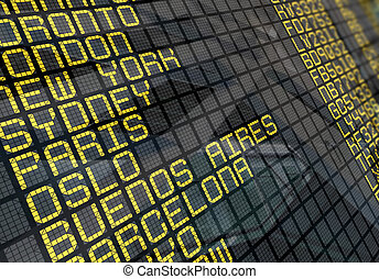 close-up, tábua, aeroporto internacional