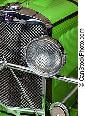 Close-up Talbot vintage car