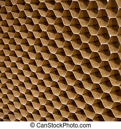 Close up texture of cooling pad. Honeycombs paper