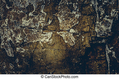 Close up texture of grunge cracked old stone wall.
