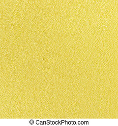 close-up texture of yellow sponge background