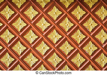 Thai style wood carving texture and background