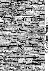 black and white Stone wall texture