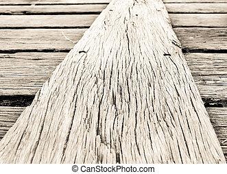 floor of wood bridge background