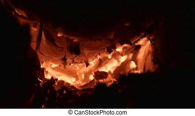 Close up to bonfire