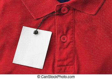 Close up top view of man polo shirt