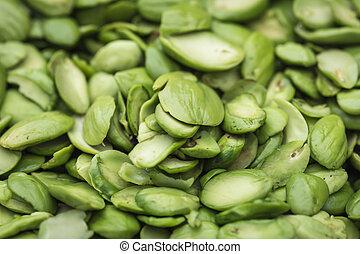 Tropical stinking edible beans (Parkia Speciosa) - Close up ...
