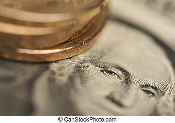 Close-Up U.S. Dollar Coin