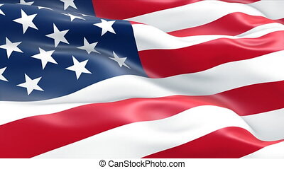 usa american flag - close up usa american flag