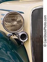 close-up, van, auto, grill