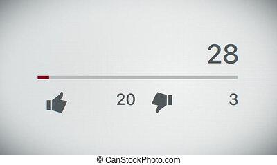 close-up, van, een, video, toonbank, toenemend, om te, 1,...