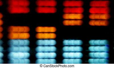 close-up, van, hifi, grafisch, equalisers, grit, met, canon, 5d, mk2, video
