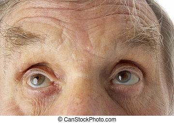 close-up, van, hogere mens