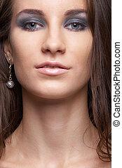 close-up, van, mooi, model