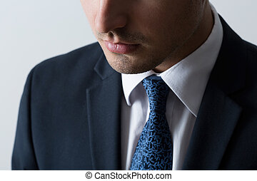 close-up, van, zakenmens