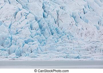 Vatnajokull glacier in Iceland at Fjallsarlon lagoon