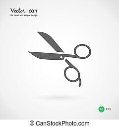 Vector Gray Scissors Icon Graphic Design