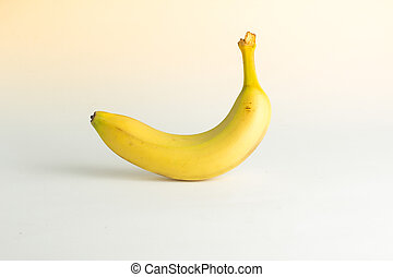 close-up view of a banana