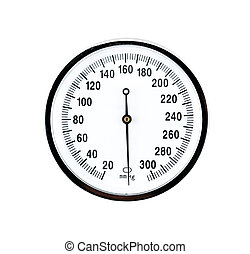 close up view of a sphygmomanometer