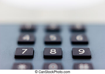 Close up view of a telephone