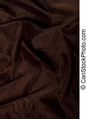 dark brown silk