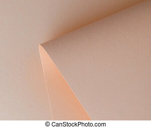close-up view of beautiful tender beige paper sheet