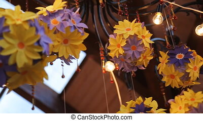 Close up view of celebration decoration.