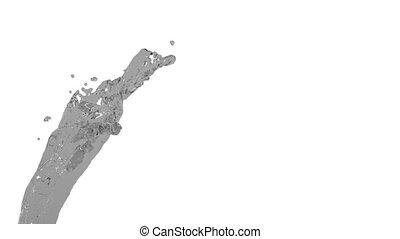 flying grey liquid flow in slow motion