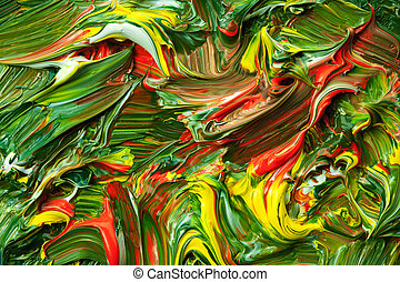 Hand-painted background. - Close up view of Hand-painted ...