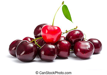 Close-up view of heap of cherry - Close up of heap of...