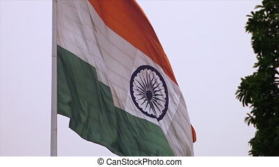 Close-up View of Indian Flag, Agra, India - Close-up...