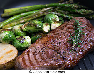 close up view of nice fresh steak w