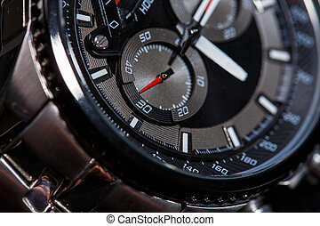 Close up view of nice man's watch