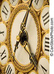 Old Antique Clock - Close up view of Old Antique Clock