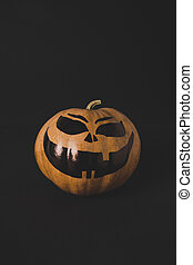pumpkin with scary face for halloween