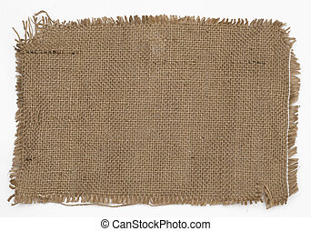 close-up view of sackcloth texture for background