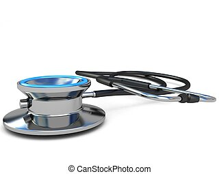 close up view of stethoscope