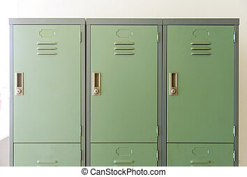 Close up view of the closed locker