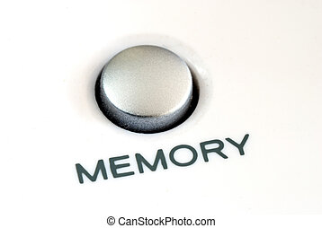 Close up view of the memory button also concept of memory ...