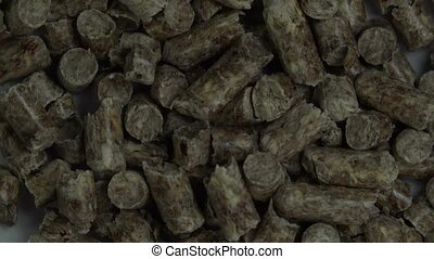 Close Up View of Wood Pellet