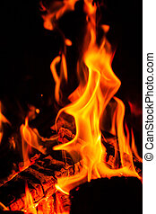 close up view on flame