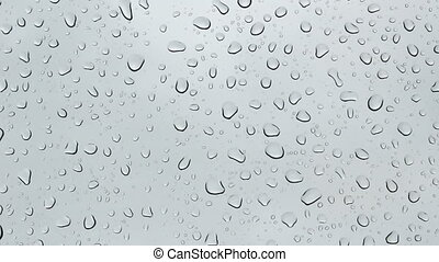 Close-up water droplets on glass