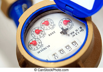 water meter - close up water meter