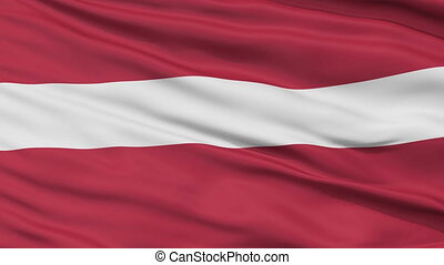 Close Up Waving National Flag of Latvia - Latvia Flag Close...