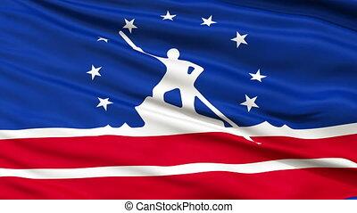 Close Up Waving National Flag of Richmond City - Richmond...