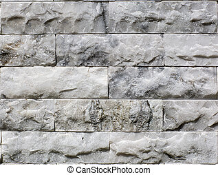Close up White marble brick wall